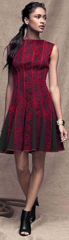 Interesting #Fabric on Tadashi Shoji Dress