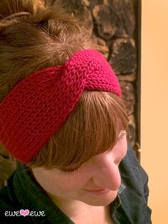 hot_mess_headband., worsted wt, free pattern
