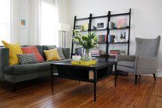 house tours, pillow, living rooms, couch, michael scandinavian