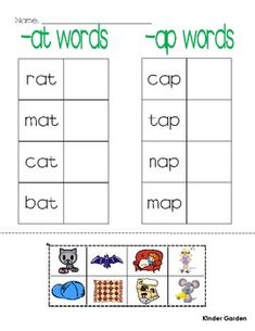 rhyming words / word families