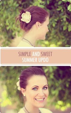 Simple & Sweet Summer Updo {Tutorial} - http://www.latest-hairstyles.com/tutorials/simple-sweet-summer-updo.html#