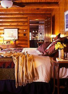 Log Cabin Interior Design - Log Cabin Decor - @Interior Design Ideas