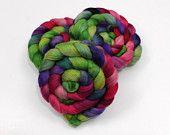 Merino Wool/ Bamboo/ Tussah Silk Top (Roving)by thegossamerweb at etsy.com