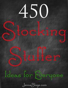 450 Stocking Stuffer Ideas!