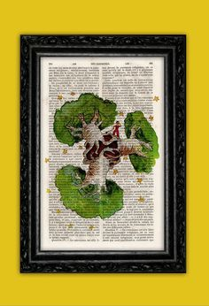 The Little Prince and the Baobabs eating the World Print - Saint-Exupéry Poster Book Art Dorm Room Gift Wall Decor Poster Dictionary Print on Etsy, $9.89