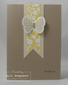 Stampin' Up! - butterfly thank you