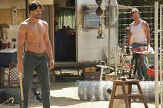 """Alcide and His Dad, Jackson, Ready to Fight in True Blood Season 5, Episode 11: """"Sunset"""""""