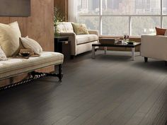 HGTV Home Flooring by Shaw - Hardwood Flooring in darkest brown.