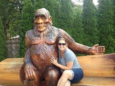 Many thanks to Stacey Zabel for sharing this photo of her cozying up with our Sasquatch in Harrison Hot Springs, British Columbia.
