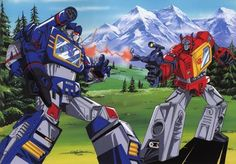 All right everybody which transformer do you think is better (blue) Soundwave the tape player or (red) Blaster the boombox