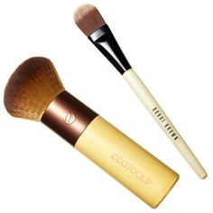 The proper brushes to use when applying bronzer