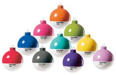 """Pantone Xmas Balls from Seletti will bring a colorful splash to any dull tree. You can get them at A+R."""