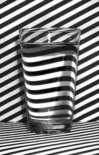 water, black n white, optical illusions, graphic, glasses, perspective art, black white, op art, stripes
