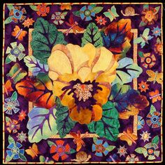 pansy quilt by charlotte hickman
