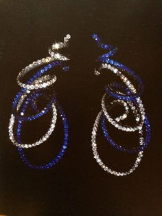 JAR ribbon earrings sapphires, diamonds silver and gold