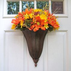 Autumn Wreath Front Door Wreath Fall Outdoor by AWorkofHeartSA, $70.00