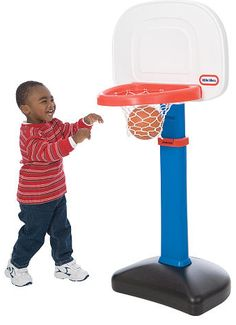 Need a birthday gift for a busy 2 year old?   Little Tikes Easy Score Basketball Set at Toys R Us.