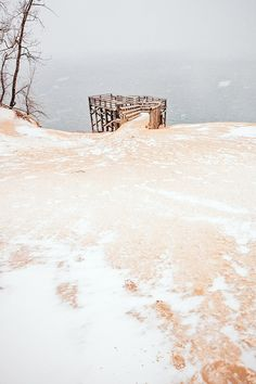 Snow and Sand at Sleeping Bear Dunes | Someday Today