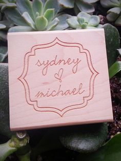 Name Stamp  Personalized  DIY Stationery and Wedding by Studio255, $25.00