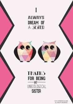 Love the cute owls and love the saying
