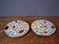 Midcentury Modern Mosaic Pair of Trivets or by SherwoodVintage, $14.00