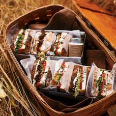 19 perfect picnic recipes - from gourmet sandwiches to sides and desserts.  Love the pre-packed lunch for a party or guest!
