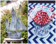 nautical inspired straws + decorations