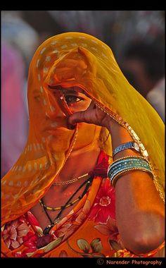 Veild Lady of Rajasthan - Pushkar, Rajasthan