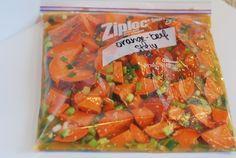orange beef : chuck roast,o.j., sugar, soy sauce, scallions, sweet potatoes