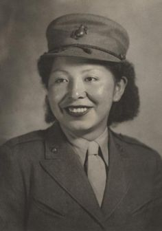 First Native American Woman Marine, Minnie Spotted Wolf