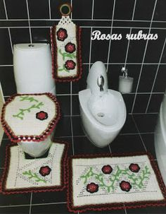 Crochet bathroom set ♥LCB♥ with diagram, click on the word GRAFICO to see it