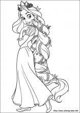 Tons of printable Tangled coloring pages