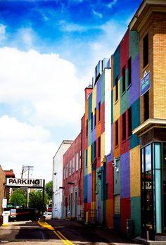Colorful beautiful Uptown (Minneapolis, MN)