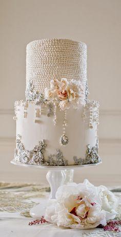 Wedding Trends : Metallic Cakes ~ L Hewitt Photography, Maggie Austin Cake |