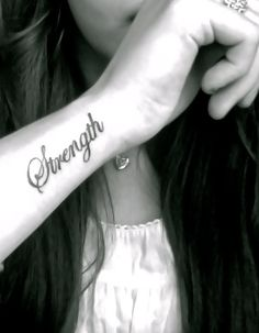 Strength. Maybe a different font for it but I love this placement