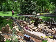 Outdoor Model Train Set by Patmns, via Flickr