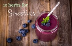 10 herbs for smoothi