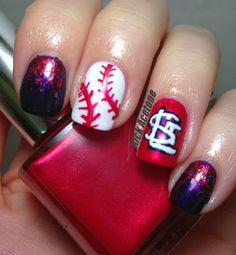 St. Louis Cardinals #nail #nails #nailart @Natalie Jost Jost Wathen These are for you, sweetie!