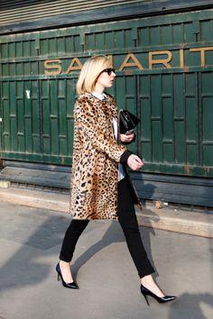 Street Style: Leopard Coat in Paris