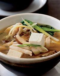 Chicken Hot Pot with Mushrooms and Tofu Recipe