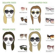 Select Sunglasses For Your Face Shape www.thetrustedbeautyguide.com thinks this is a great idea as often we guess and sometimes we even get it wrong #sunglasses