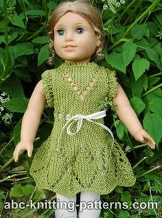 American Girl Doll Summer Lace Dress