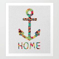 you make me home Art Print by Bianca Green - $18.00