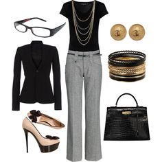 Business Professional, created by mom23jmc.polyvore.com...What I would wear if I didn't have to wear scrubs to work every day. :)