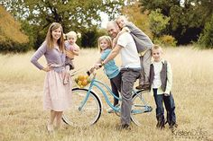 vintage bike/family picture