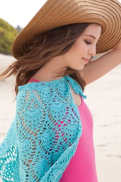 woman fashion, crochet projects, poncho, pineappl sarong, fashion outfits