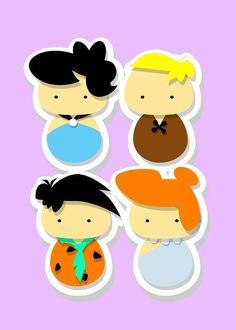 kokeshi - Flintstones