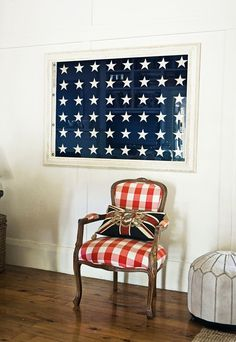 all american . love the framed stars + the buffalo check red !