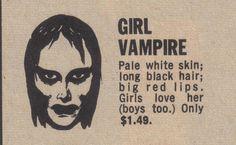 Girl vampire for sale.