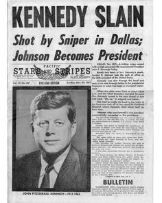 John F. Kennedy, May 29, 1917 - Nov 22, 1963.  A landmark event for my generation.